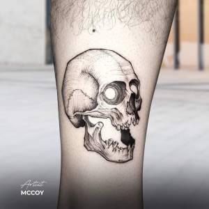 skull tattoo small