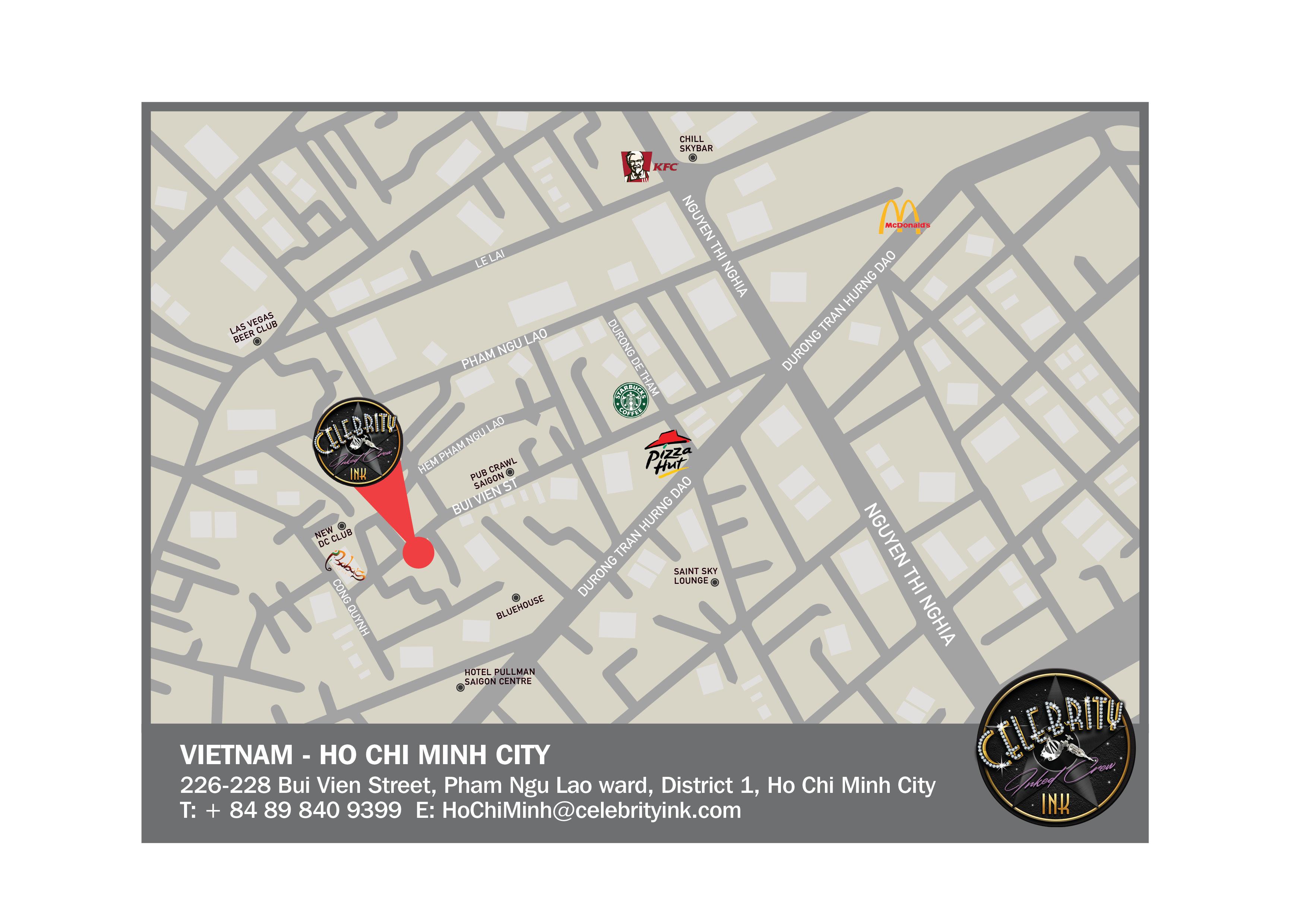 Celebrity Ink HOCHIMINH map