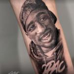 2pac tattoo