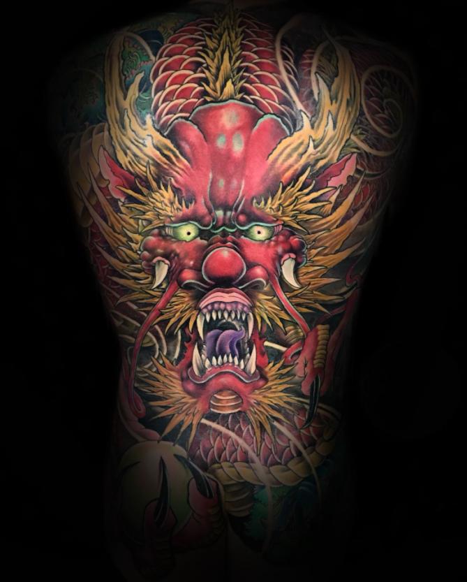irekuzi tattoo japanese tattoos oriental traditional dragon back full colour