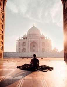 india taj mahal yoga chakra meditation sunset